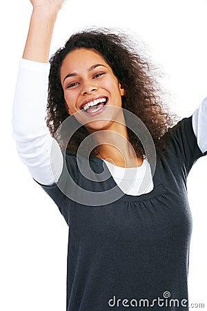 Overly happy girl