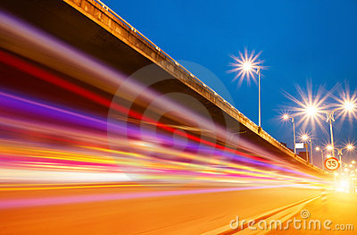 Overpass light trails