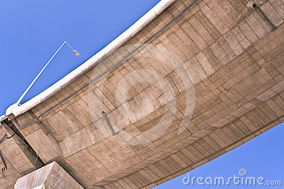 Overpass over blue sky