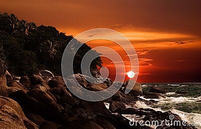 Overseas sunset...