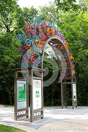 Free Overton Park Bike Gate, Memphis Tennessee Royalty Free Stock Images - 40933149
