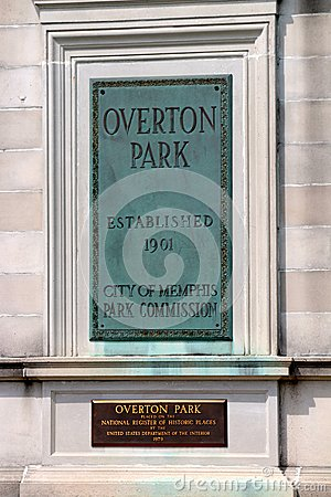 Free Overton Park Plaque, Memphis Tennessee Royalty Free Stock Photography - 40931687