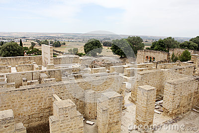 Overview of Madinat al-Zahra in Cordoba