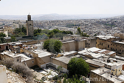 An overview of medina (old town) of Fes, Morocco