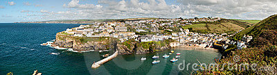 Overview Of Port Isaac Royalty Free Stock Photo - Image: 21180755