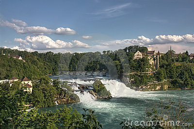 Overview of Rhine Falls