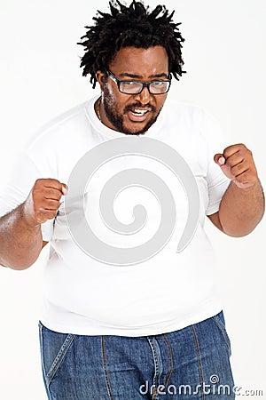 Overweight african man