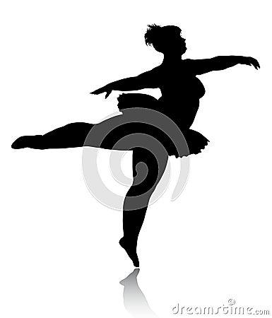 Overweight Ballerina Silhouette