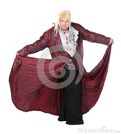 Overweight entertainer or disillusioned drag queen