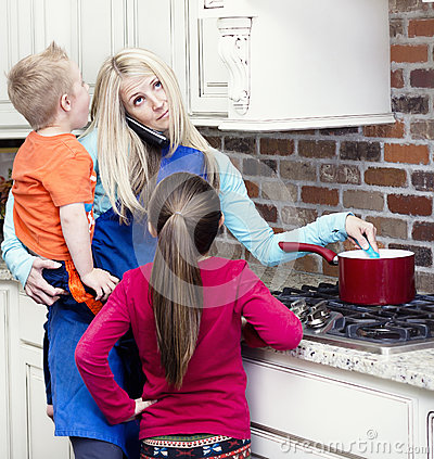 Free Overwhelmed And Frustrated Mom Royalty Free Stock Photo - 38589655