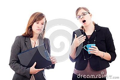 Overworked business women
