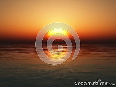Overzeese zonsondergang