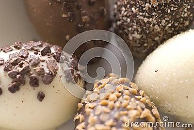 Ovos de easter do chocolate