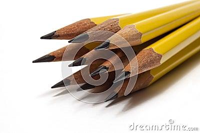 Ołówki kilka ostrzyli