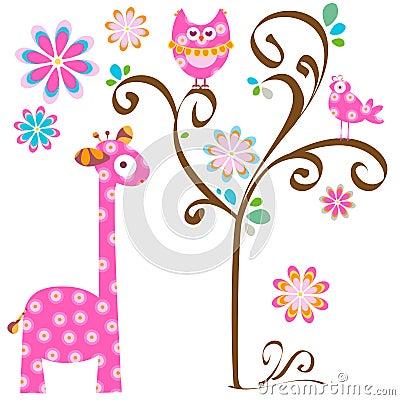 Free Owl And Giraffe Stock Photos - 29236803
