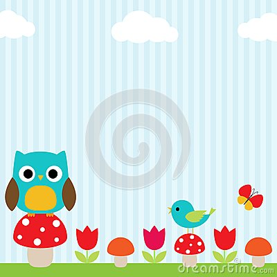 Free Owl Background Royalty Free Stock Image - 24903546