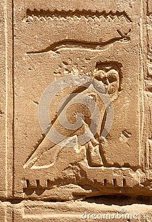 Owl bas-relief
