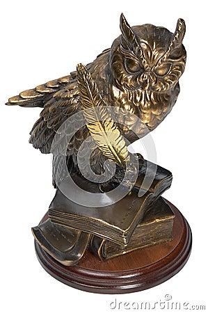 Free Owl Bronze Figurine Royalty Free Stock Image - 13784556