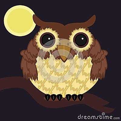 Owl on brunch