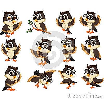 Free Owl Cartoon Stock Image - 80074901
