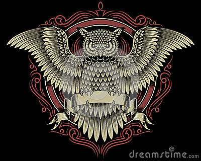 Owl Crest Stock Vector...
