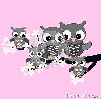 Free Owl Family Stock Photography - 18172702