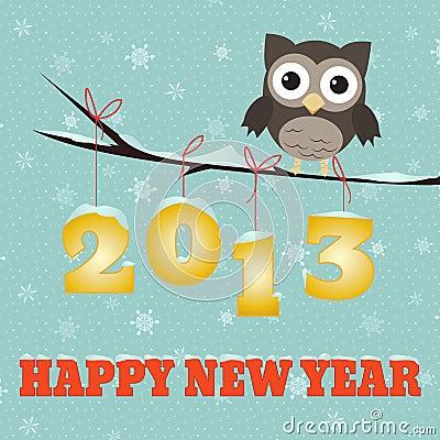Owl Happy new year 2013