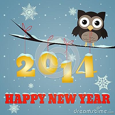 Owl Happy new year 2014