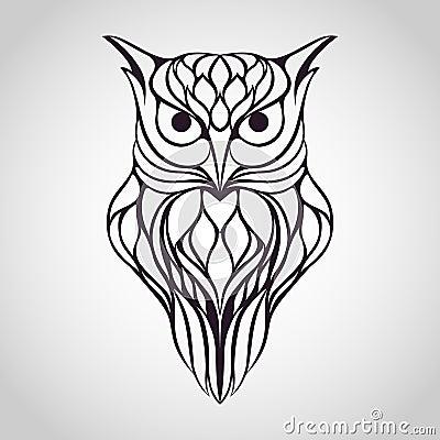 Owl Logo Stock Vector Image 58209650