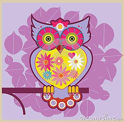 Owl pink queen