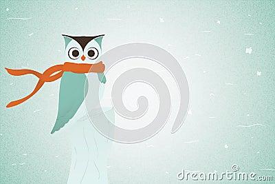 Owl In Red Neckerchief. Vector
