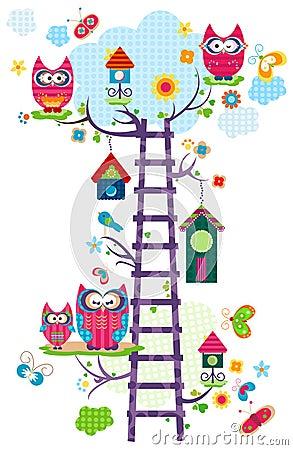 Free Owl`s Tree Royalty Free Stock Image - 28700006