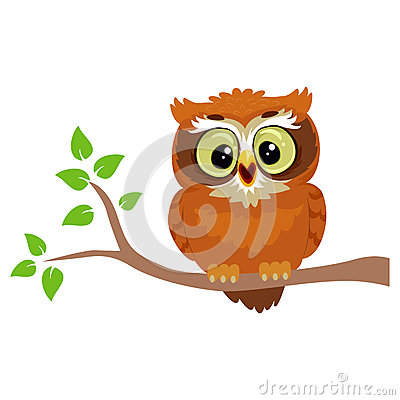 Free Owl Sitting On A Tree Branch Royalty Free Stock Photos - 78660338