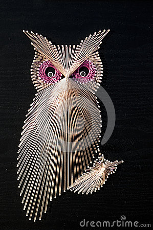 Owl String art