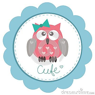Owlet bonito da bebê-menina
