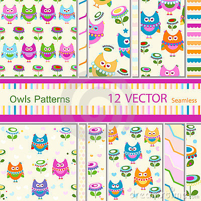Free Owls Patterns Stock Photo - 23760640