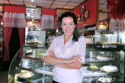 owner of a cafe/ pastry shop