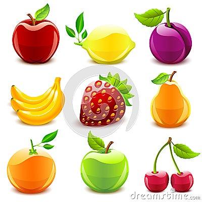 Owocowy glansowany set