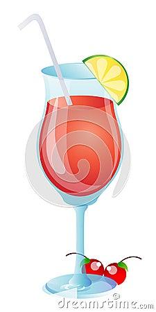 Owocowy szklany sok