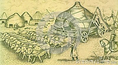 Ox Drawn Yurte