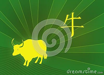 Ox Year Hieroglyph