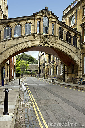 Oxford - Bridge of Sighs - Great Britain Editorial Stock Image