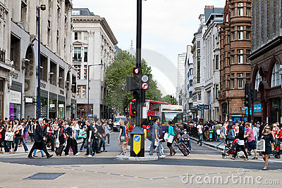 The Oxford Circus crossing in London Editorial Stock Photo