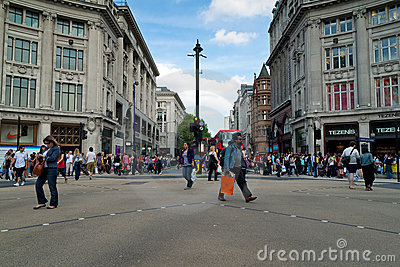 The Oxford Circus crossing in London Editorial Photo