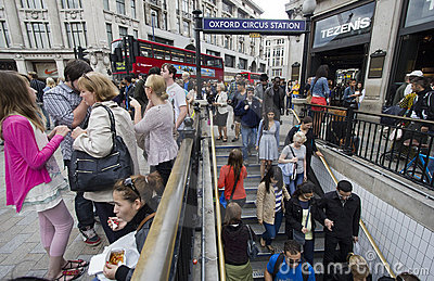 Oxford Circus Station London Editorial Image