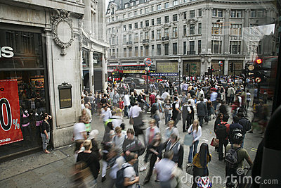 Oxford Street in London Editorial Stock Photo