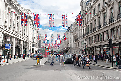 Oxford Street, London Editorial Stock Image