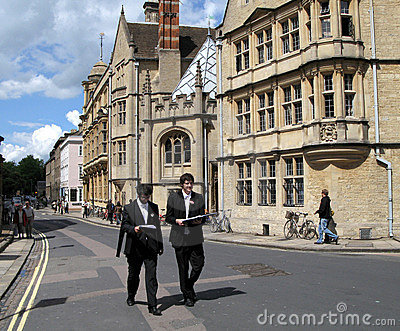 Oxford University Students Editorial Stock Photo