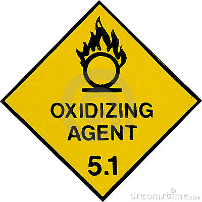 Oxidizing Warning Sign
