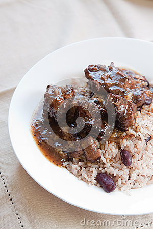 Oxtail Curry with Rice - Caribbean Style